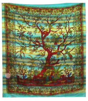 Bedspread Tree of Life - Water