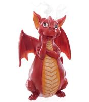 Incense Cone Holder - Dragon, red