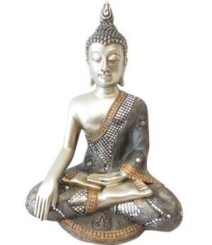 Amitabha Thai Buddha - Silvery Witness Mudra 34cm