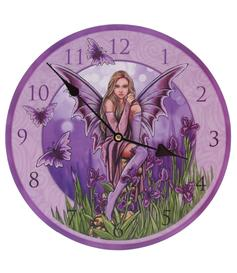 Picture Clock - Fairy with Irises by Lisa Parker