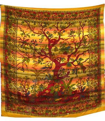 Bedspread Tree of Life - Earth