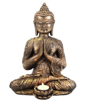 Amitabha Buddha - Golden Tealight Holder 33cm