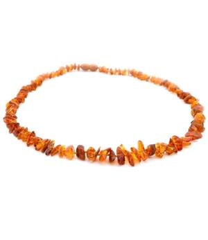 Gemstone Chip Necklace - Amber