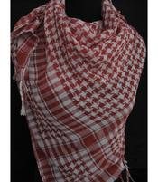 Arabic Scarf - White n' Red
