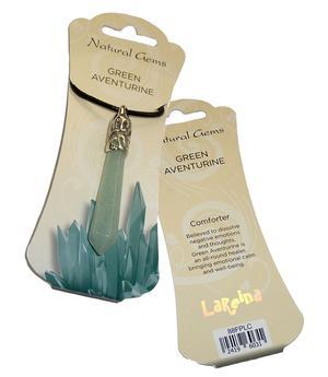 Gemstone Pendulum Pendant Necklace - Green Aventurine