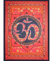 Tapestry Bedspread -  AUM / OM Lotus