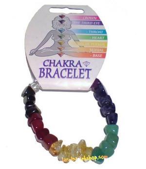 Gemstone Chip Bracelet - Chunky Chakra