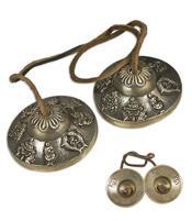 Tingsha Brass Cymbals - Ashtamangala 62mm