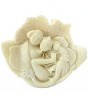 Imitation Ivory Happy Buddha - Kamasutra