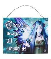 Anne Stokes Metal Sign - Mystic Aura, 19 x 24cm