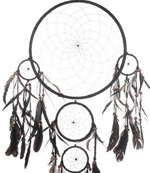 Dreamcatcher Multi 5 - Black 42cm