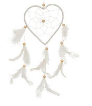 Dreamcatcher Heart - White 12cm