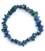 Gemstone Chip Bracelet - Lapis Lazuli & Malachite