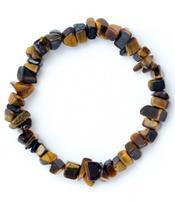 Gemstone Chip Bracelet - Golden Tiger Eye