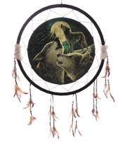 Medicine Shield - Wolf Song by Lisa Parker 60cm