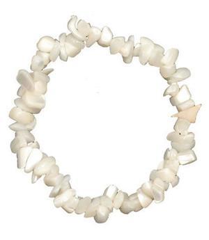 Gemstone Chip Bracelet - Mother of Pearl