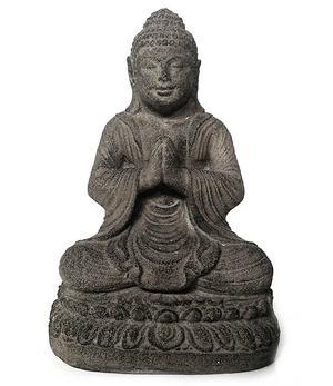 Amitabha Buddha Praying - Grey Stone 22cm