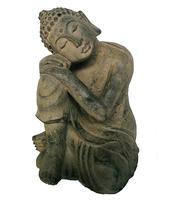 Amitabha Buddha Dreaming - Grey Stone 24cm