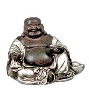 Silvery Happy Buddha - 8cm